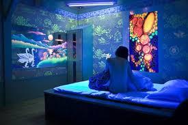 Blacklight Bedroom Ideas Modern Home Decorating In Black Light For Decor 11  ...