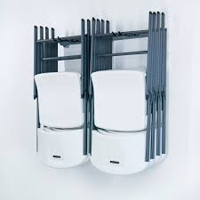 hanger wall mounted folding chair storage with hooks to saving spaces ideas
