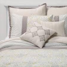 Image White Comforter 8pc Hallie Medallion Comforter Set Yellowgray Sunham Home Fashions Target 8pc Hallie Medallion Comforter Set Yellowgray Sunham Home
