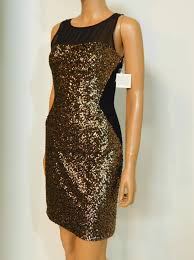 Aidan Mattox Black New Sequin And Ponte Knit Short Cocktail Dress Size 4 S 72 Off Retail