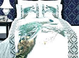 peacock blue comforter set feather bedding bed linen l peacock comforter