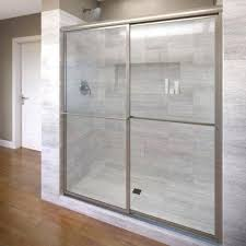 standard size deluxe framed 3 inch glass sliding shower door rails drip rail and wipe seal