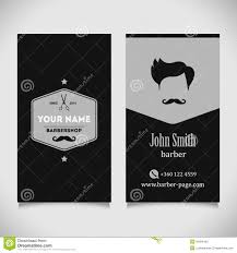 barbershop business cards hair salon barber shop business card design stock vector image