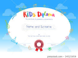 Certificate Of Awesomeness Template Kids Diploma Certificate Of Awesomeness Template Stock