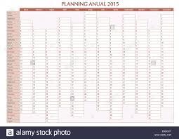 Annual Calendar 2015 2015 Annual Planner Spanish Calendar For Year 2015 Week