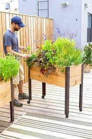 diy standing planter box stand up herb garden outdoor and planter box stand