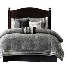white california king comforter. California King Size 7-Piece Comforter Set In Black White Luxury Damask I