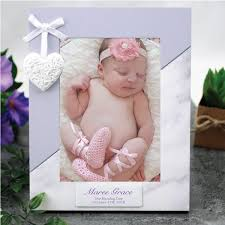 naming day gifts personalised naming day 7 x 7 photo frame heart 30
