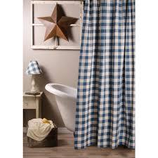colonial blue buffalo check shower curtain 72x72