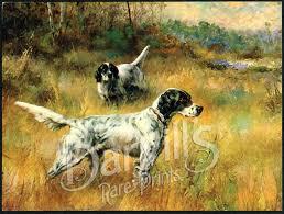vintage calendar poster prints of dogs