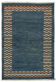blue new turkish kilim rug
