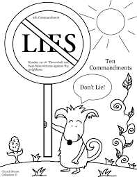 Church House Collection Blog: Thou Shalt Not Lie Coloring Page For ...