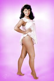 Bettie Page in a teddy colorized. Bettie Page Pinterest