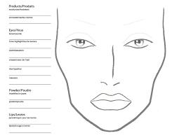 Becoming A Makeup Artist Free Blank Mac Makeup Chart In