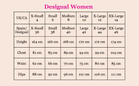 Desigual Dress Size Chart Desigual Size Guide Canada Fun Fashion