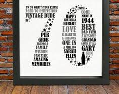 th birthday ideas for dad 70th birthday gifts 75th birthday personalized birthday gifts