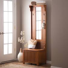 Coat Rack Bench With Mirror Mudroom Small Hallway Storage Seat Thin Hall Tree Coat Rack With 21