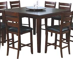 dining table set with lazy susan. monarch specialties - 1833 square pub dining table with lazy susan in dark oak set r