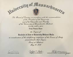 Sample Degree Certificates Of Universities Your Diploma And Certificate Umass Amherst University