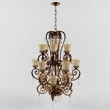 valentina iron leaf collection three tiered chandelier