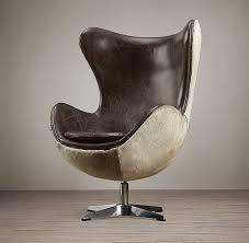 1950s copenhagen chair hair on hide back restoration hardware