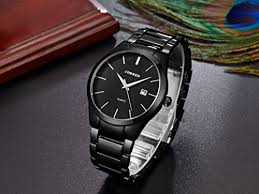 voeons mens watches big dial auto date black stainless steel strap voeons mens watches big dial auto date black