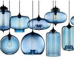 pendant light fixtures blown glass. Hand-blown Modern Glass Pendant Lighting In Blue Light Fixtures Blown
