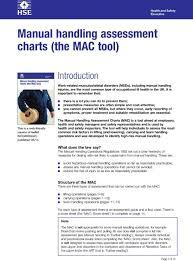 Manual Handling Assessment Charts The Mac Tool Pdf Free