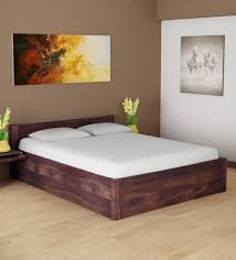 Image Abbey Wood Pepperfry Enkel Solid Wood King Size Bed With Storage In Provincial Teak Finish By Woodsworth