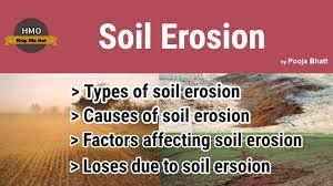 soil erosion types causes factors