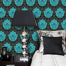 Teal Bedroom Wallpaper Black And Teal Wallpaper Wallpapersafari