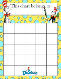 Dr Seuss Chart Dr Seuss Incentive Chart By Celebration Station Tpt
