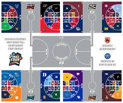 2019 Ncaa Tournament Court Designs 2018 Ncaa Tournament Sweet Sixteen Logo Court Bracket
