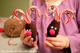 Christmas Decorations With Candy Canes Easy Christmas Crafts Candy Cane Reindeer One Hundred Dollars 84