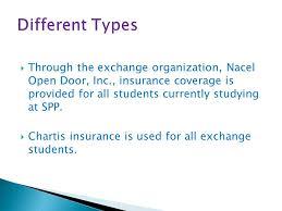 through the exchange organization nacel open door inc insurance coverage is