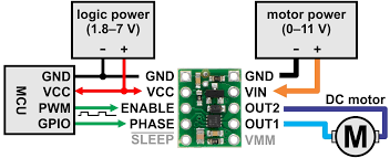 pololu drv8838 single brushed dc motor driver carrier minimal wiring diagram for connecting a microcontroller to a drv8838 single brushed dc motor driver carrier