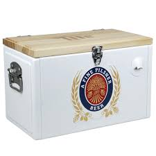 retro beer cooler ice chest vintage hardware miller lite