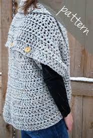 Crochet Oversized Sweater Pattern Custom Crochet PATTERN Oversized Cardigan Sweater Chunky Cowl Easy