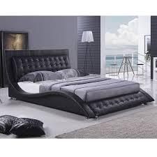 black modern platform bed. Romantic Dublin Modern King Size Platform Bed Black E