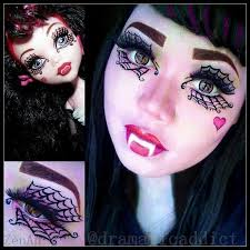 costume makeup tutorial for you monster high doll draculaura ghouls rule makeup tutorial