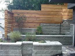 modern fence garden retaining wall