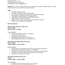Cashier Resume Template Resume Template For Cashier Resume For