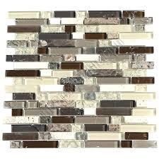 glass le tile mosaic glass tile le and marble linear 5 8 x strips le glass glass le tile