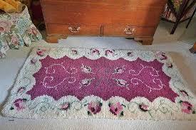 prettiest wool rug latch hook readicut handmade carpet fl rug shabby chic