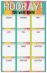 Printable For Classroom Birthday Charts Printable For