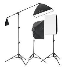 square perfect professional quality 2275w digital softbox lighting kit boom set 2 softbo and a boom stand com