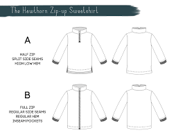 Sweatshirt Pattern Custom Titchy Threads Hawthorn Zipup Sweatshirt PDF Pattern