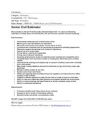 Construction Estimator Resume Sample Senior Civil Construction Estimator Job In Mississauga By Hni