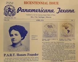 a pan american round table of texas newsletter from 1976 features a photo of florence terry