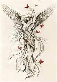 Angel Sketch Angel Tattoo Sketches Tattoo Maze